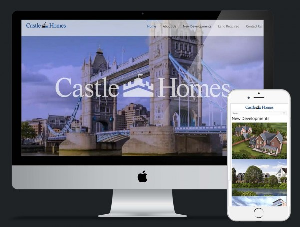 Castle Homes website design and build using Wordpress