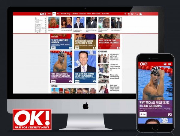 OK! magazine Website Redesign