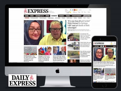 Daily Express website redesign, UX and UI
